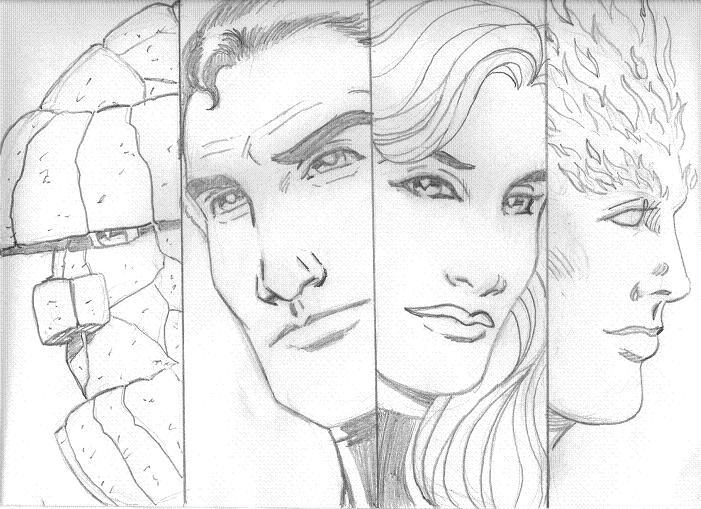 tombo's sketch-a-day: The Fantastic Four