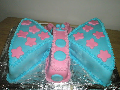 How to make a butterfly shape cake with a 9x13 cake pan