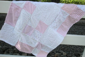 Back of the Butterfly Rag Quilt Sewing Pattern by A Vision to Remember