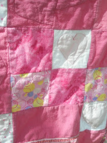 Back view of the Heart Applique Rag Quilt Pattern by A Vision to Remember