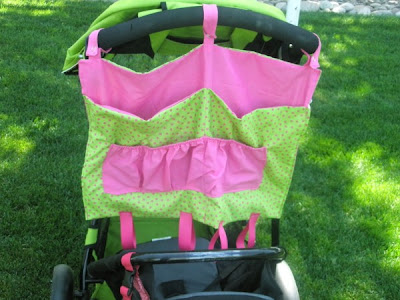 Fabric Stroller Caddy Pattern by A Vision to Remember