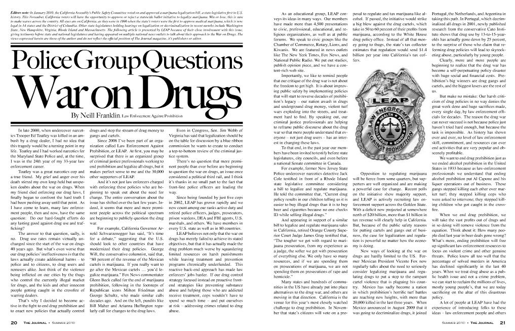 anti legalizing pot articles
