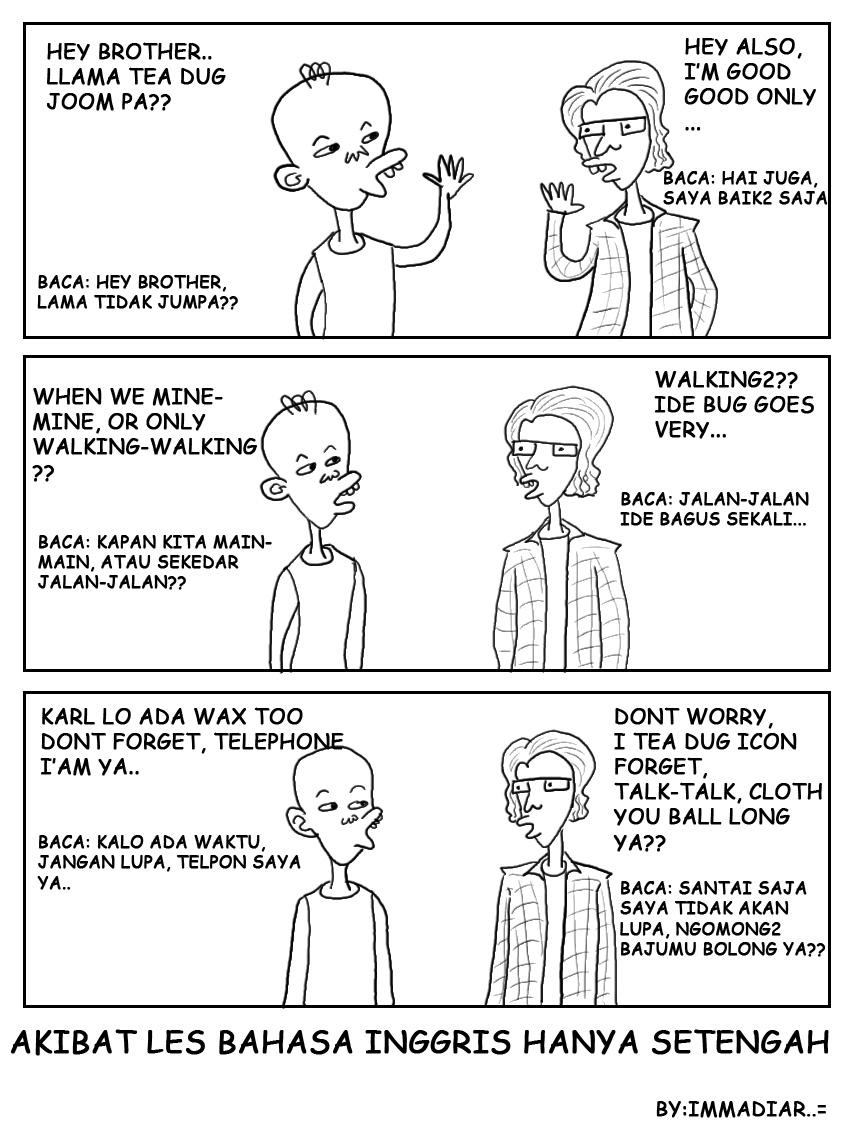 Gambar Komik Lucu Dalam Bahasa Inggris