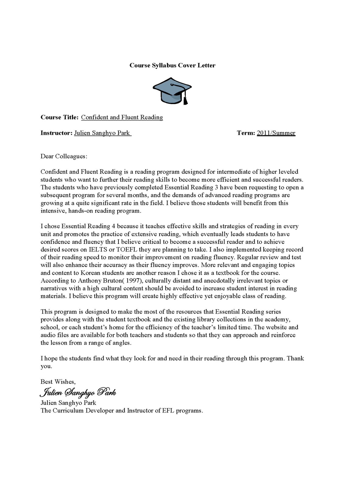 tefl cover letter sample cover letter sample of resume