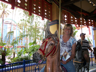 Cindy on Merry Go Round Knotts Berry Farm