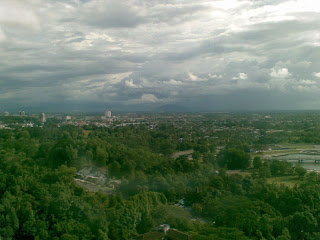Kuching City is at the background from Menara Pelita