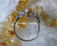 wire wrapped sparkly wire wrap ring