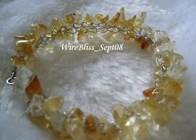 Citrine Crocheted Bracelet