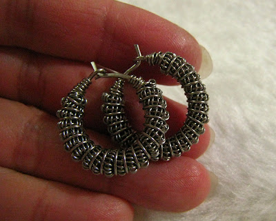 Stainless steel Wire Woven Hoop Earrings with