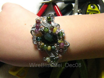 Meet Me Halfway - Braided Wire Cuff on my wrist