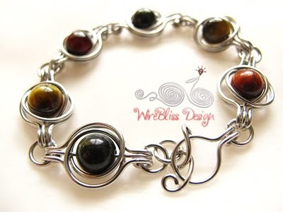 Twice Around the World (TAW) Wire Wrapped Bracelet