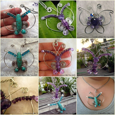 Wire Wrapped Butterfly Pendant projects