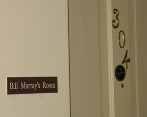 Bill Murray slept here a long time ago