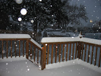 Our deck covered with snow