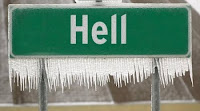 Icicles on Hell Sign