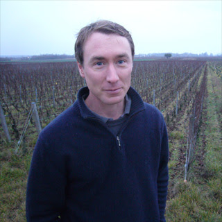 David Clark in front of his AOC Bourgogne