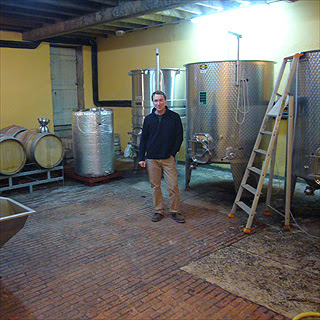 David Clarke in his cellar