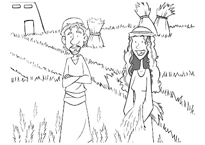ruth and boaz coloring pages kid s