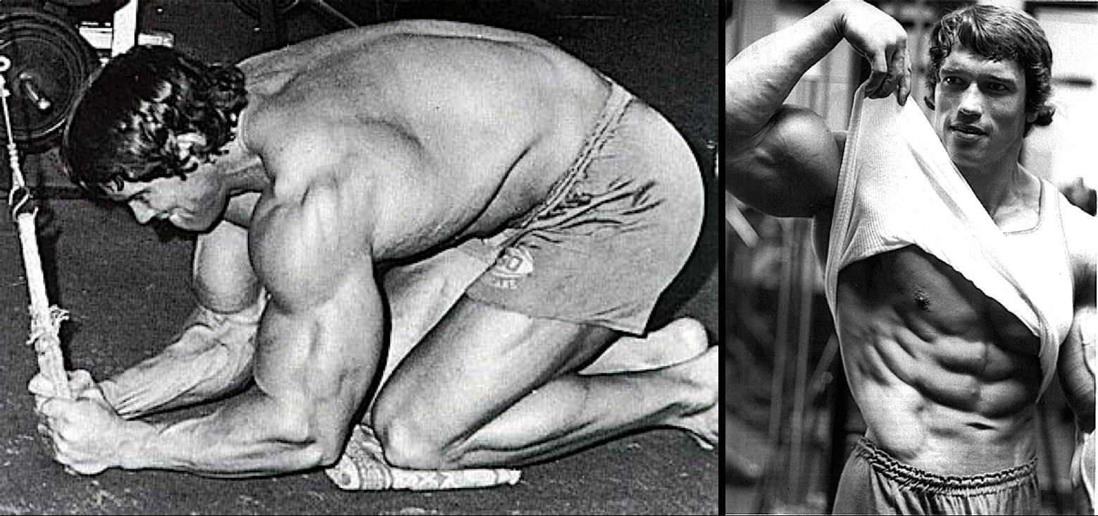Arnold Schwarzenegger  Entrenamiento Para Abdominales