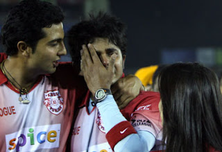 An inconsolable Sreesanth after the Mohali vs Mumbai game on Friday night. Was he slapped by Harbhajan?