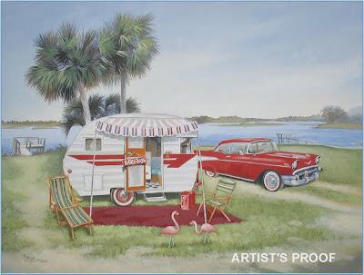Vintage Travel Trailer Art 41