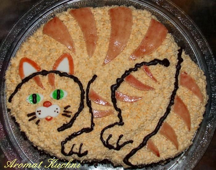 Aromat Kuchni Tort W Kształcie Kota