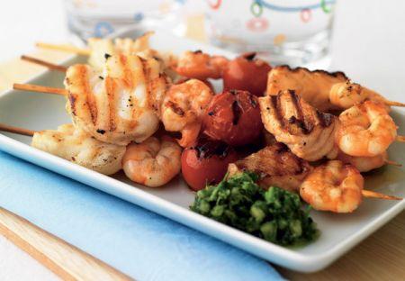 Gastromania spiedini di pesce al forno for Ricette di pesce