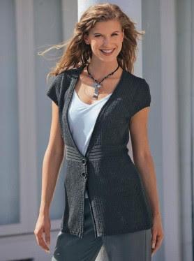 Uzun Bayan Yelek Modeli