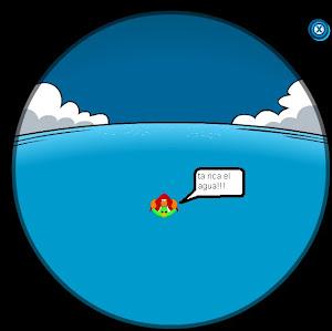 el piguino en el agua XD