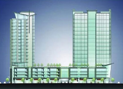 Eakin project rendering for office tower in the Gulch