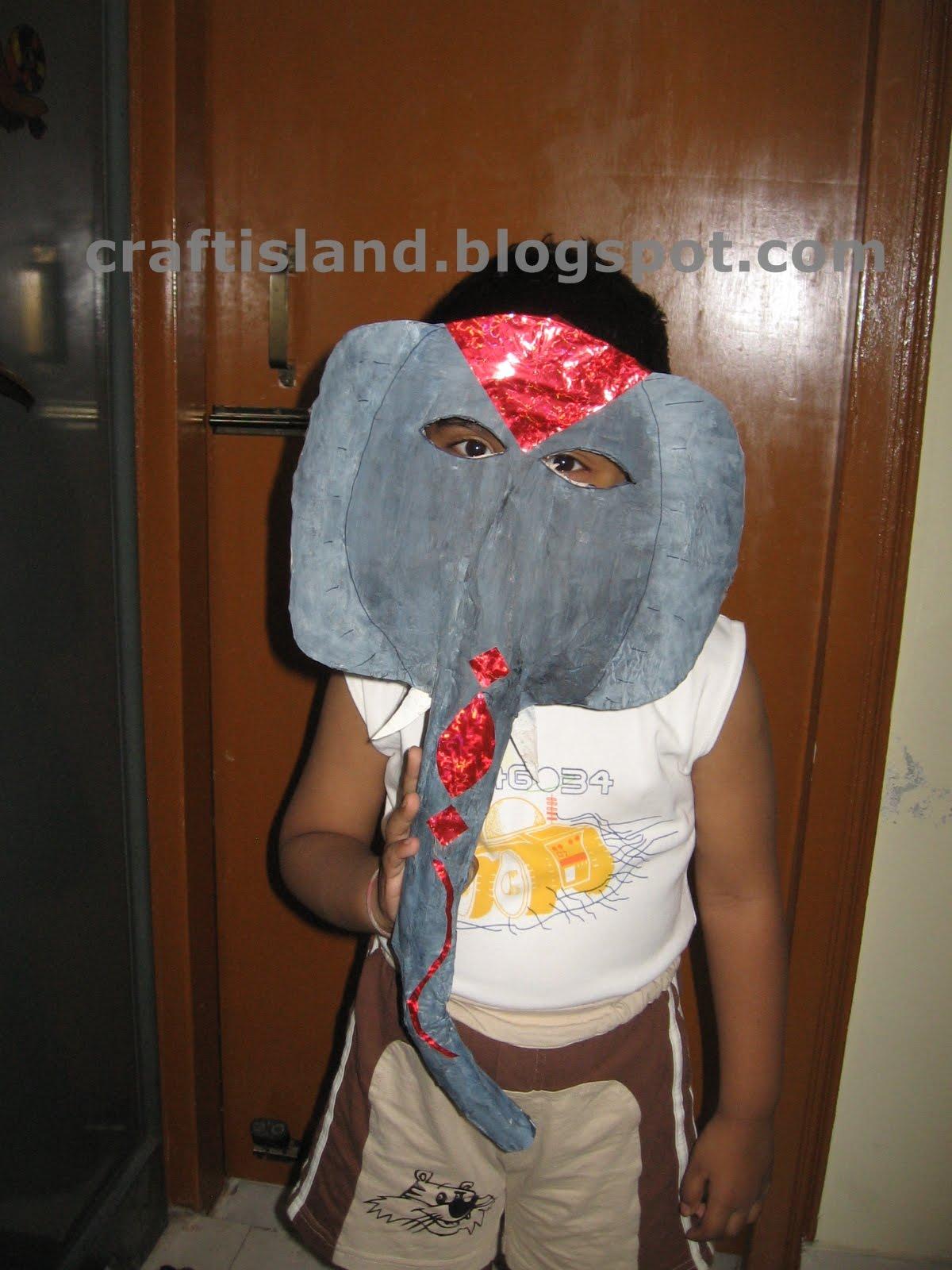 paper mache elephant mask - photo #29