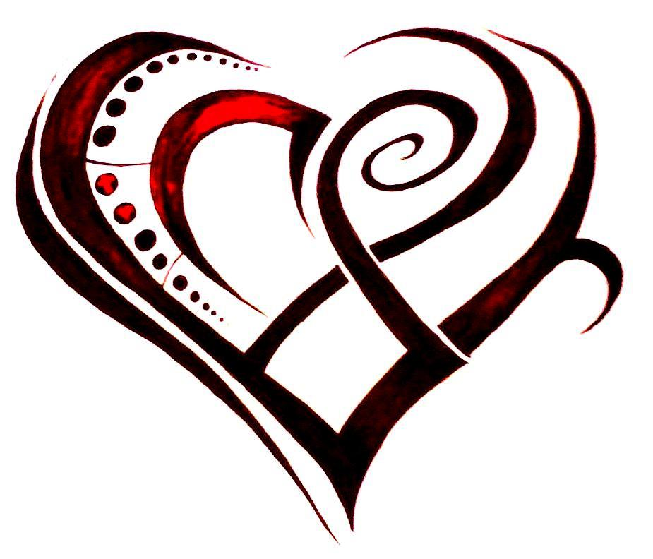 sexy tribal heart tattoo designs