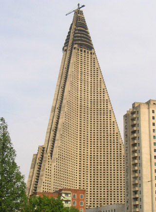 The Ryugyong Hotel, North Korea