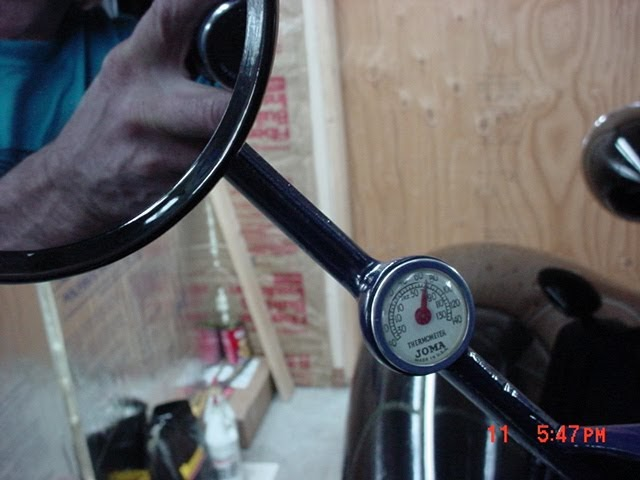 Joma Thermometer On A 1937 Chevy Truck Mirror Resto Rods
