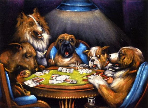 Mistersaly Dogs Playing Poker Amp Pool