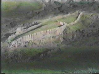 Barcon en montaña gigante.