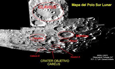 Crater lunar e impacto