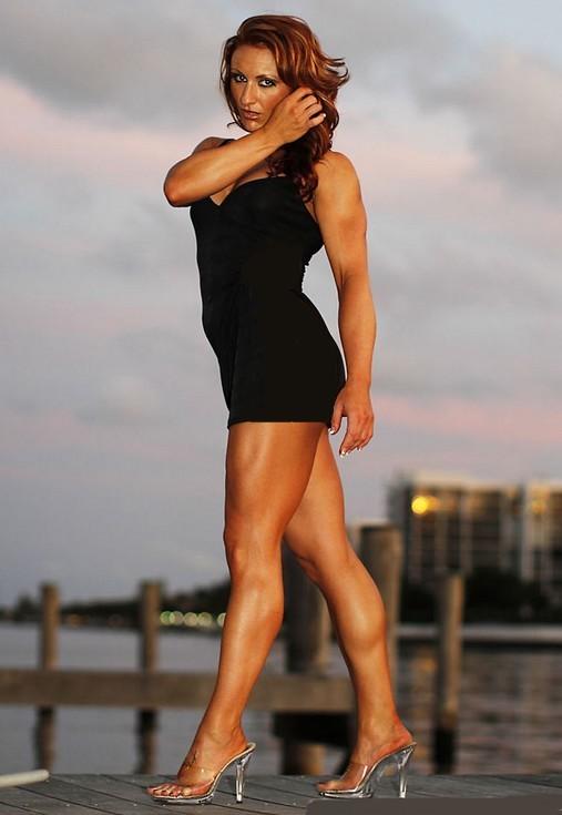 Muscular Womens Dressed: Jenny Benda.