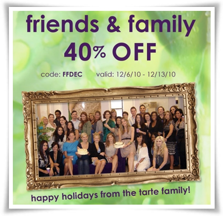 coupon code for tarte cosmetics