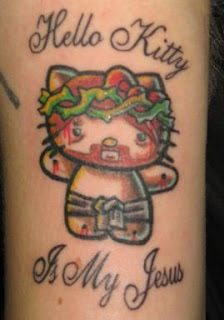 images of Hello Kitty Jesus Tattoo