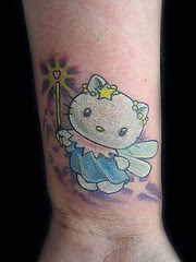 picture of kitty fairy tattoo