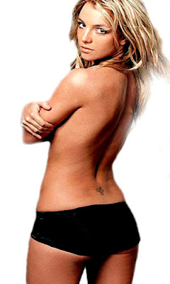 Britney Spears star and cross tattoo