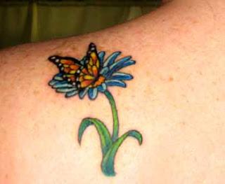 World Tattoo Art Flower Butterfly Tattoo Designs