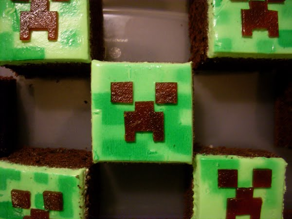 Candy Bar Cupcakes Minecraft Cupcakes Quot Creeper Quot