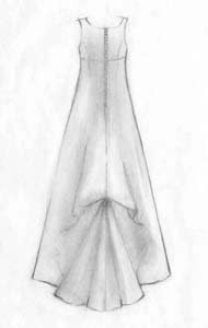 The road less traveled bustles buttons and beads for Oxiclean wedding dress
