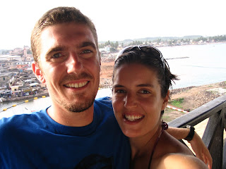 Us at Elmina Castle, Ghana.