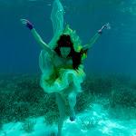 Underwater images for Vogue magazine