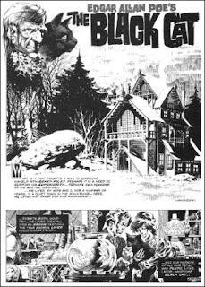The Black Cat de Poe adaptado por Bernie Wrightson
