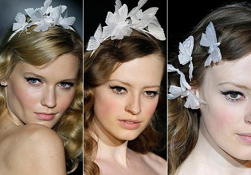 Para tu boda ultimas tendencias en los peinados de novia mariposas en el pelo vestidos de - Lo ultimo en peinados de novia ...