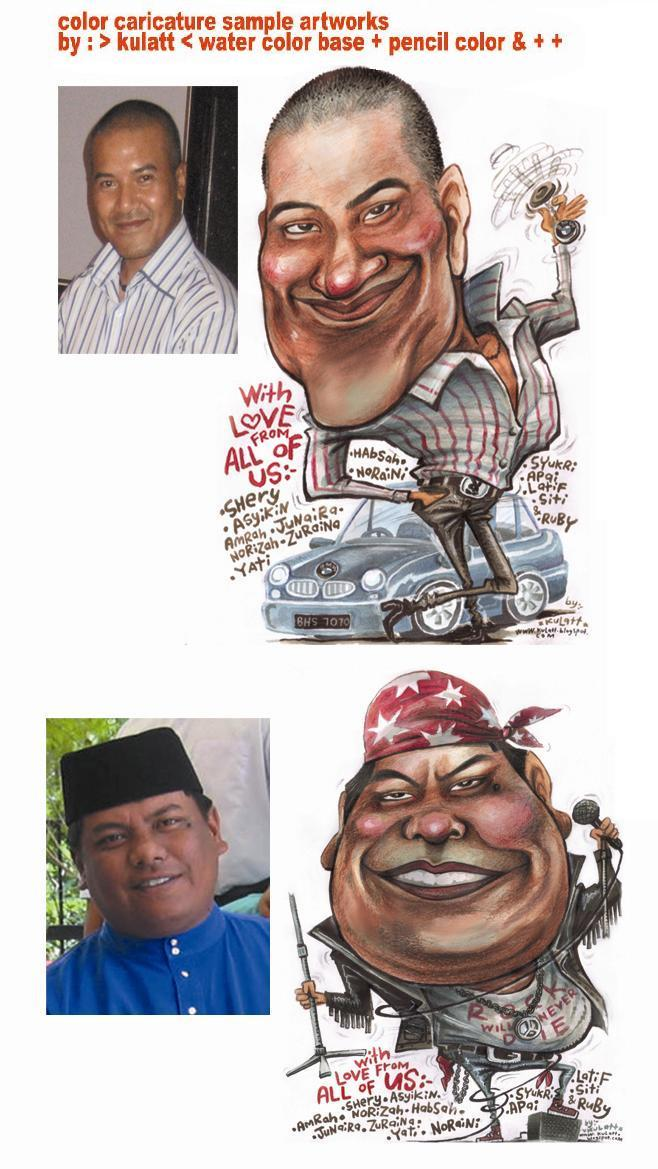 COLOR CARICATURE DRAWING